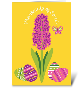 Easter Hyacinth greeting card