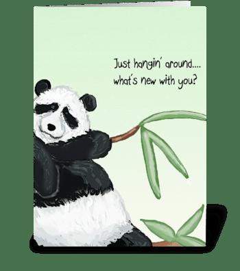 Panda Hello greeting card