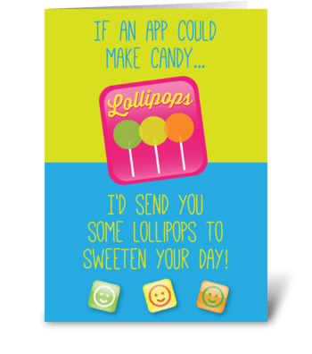 Lollipops App greeting card