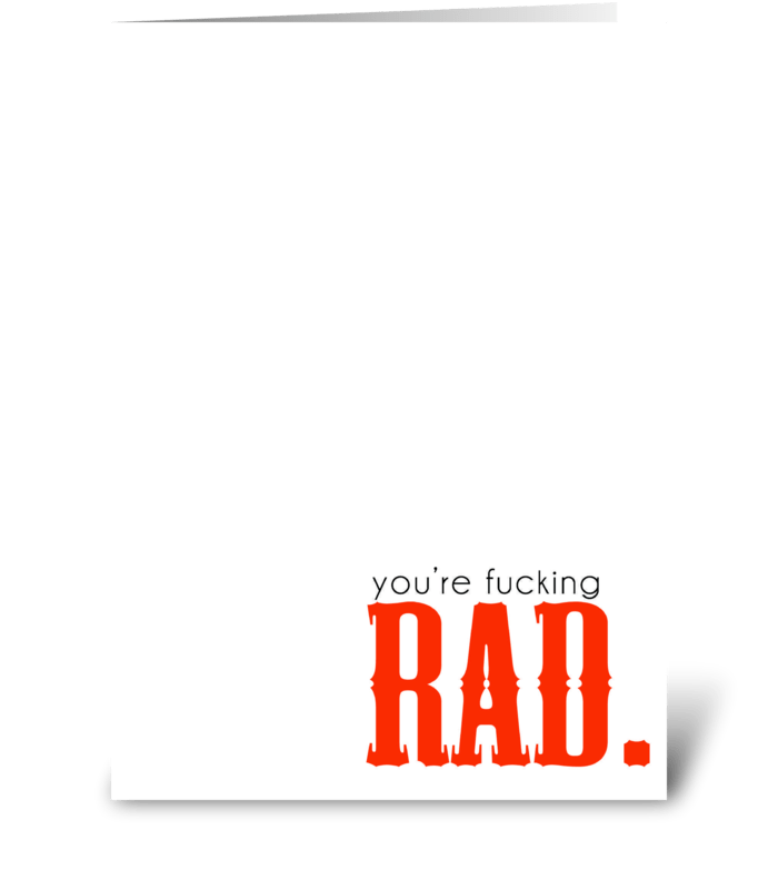 Rad greeting card