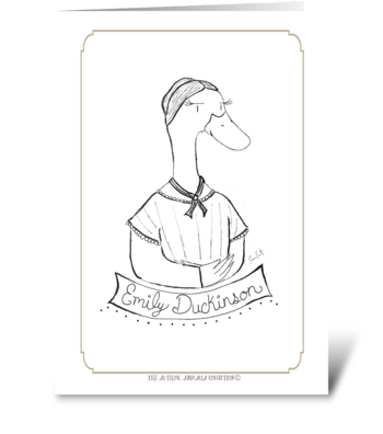 The Author Animalia Collection: Duck greeting card