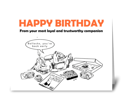 Labrador Birthday Card greeting card