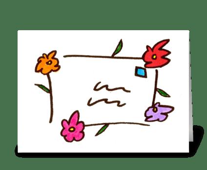 flower letter greeting card