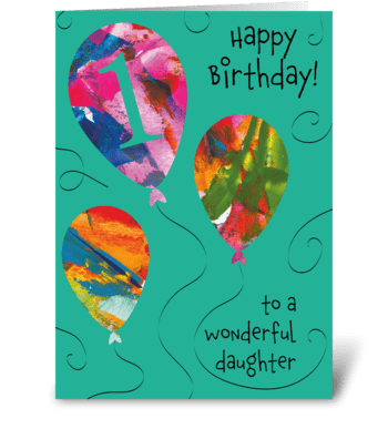 1st Birthday Daughter greeting card
