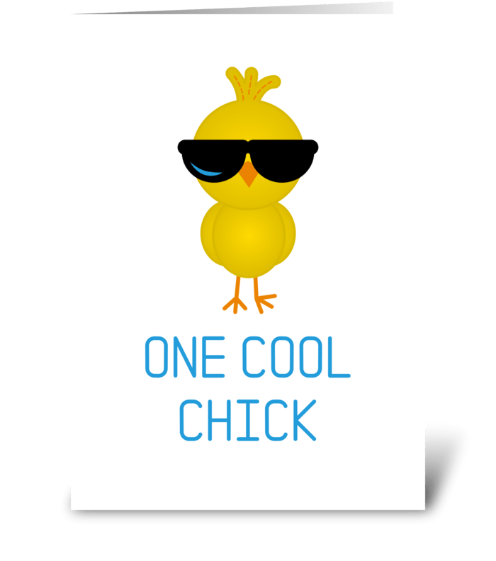 One Cool Chick greeting card