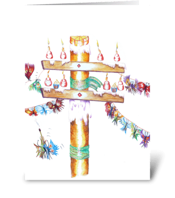 Cake Pole greeting card