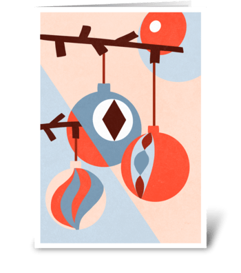 Minimalistic New Year Card greeting card