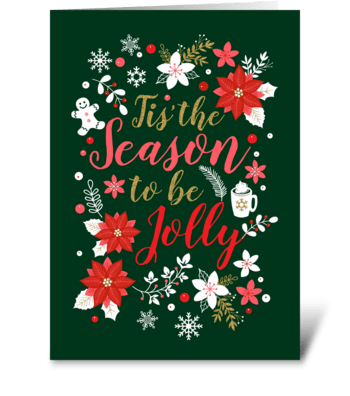 Jolly Season greeting card