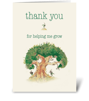 Tree Thank You Card greeting card