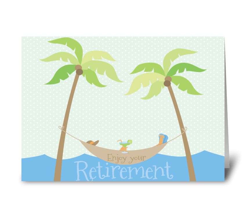 Retirement Beach greeting card