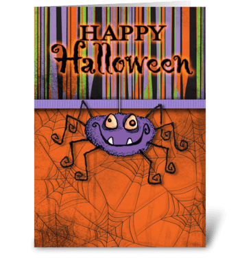 Happy Halloween Spider greeting card