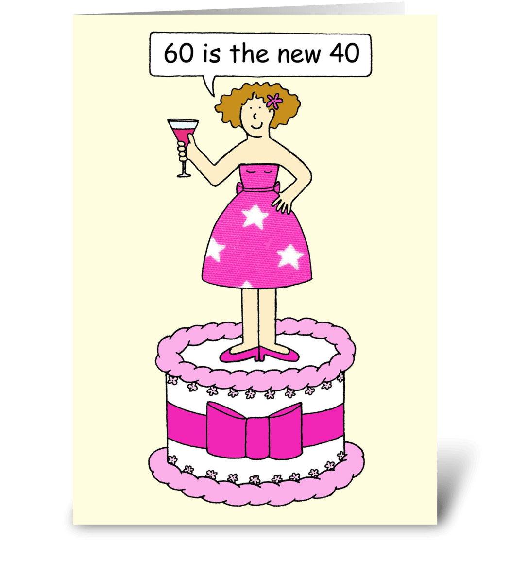 60th Birthday Card For A Lady