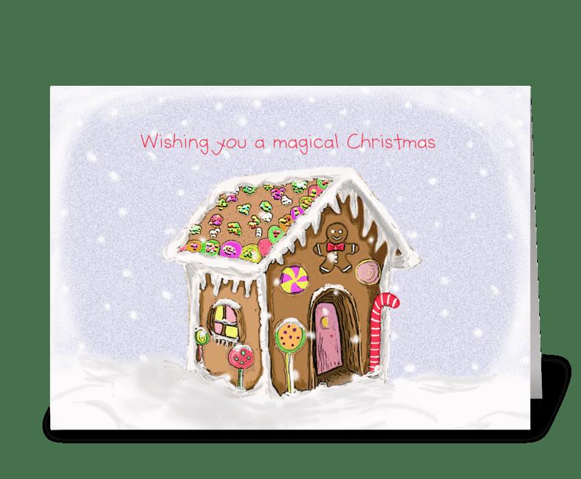 Magical Christmas greeting card