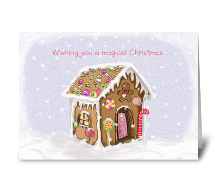 Magical Christmas greeting card