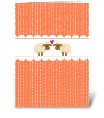 Thanks 2 Ewe greeting card
