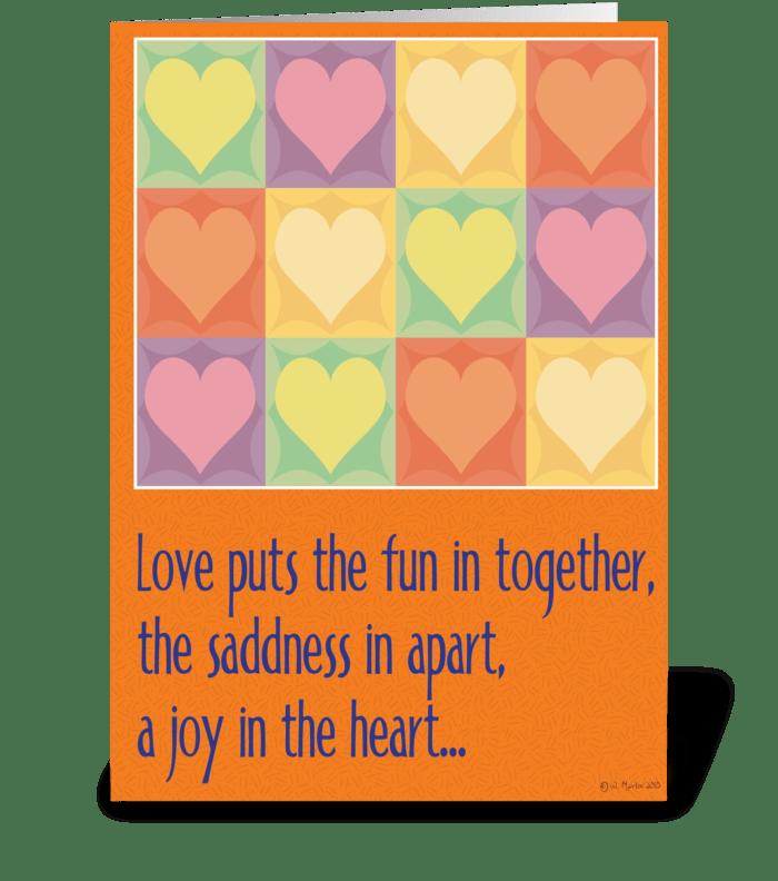 Love... Humorous Birthday Card greeting card