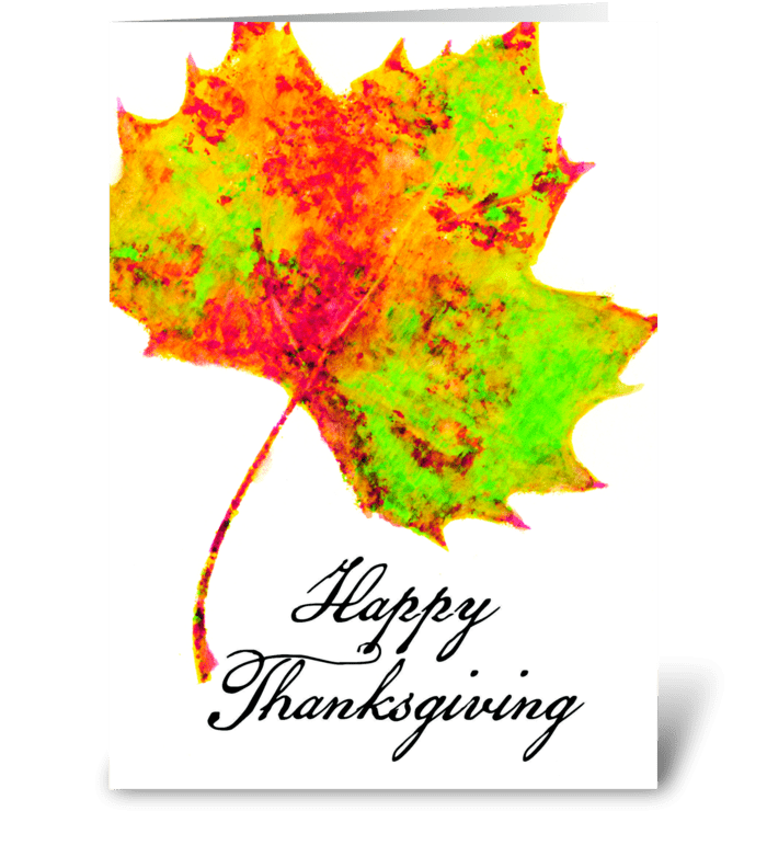 Simple Thankgiving Pleasures greeting card