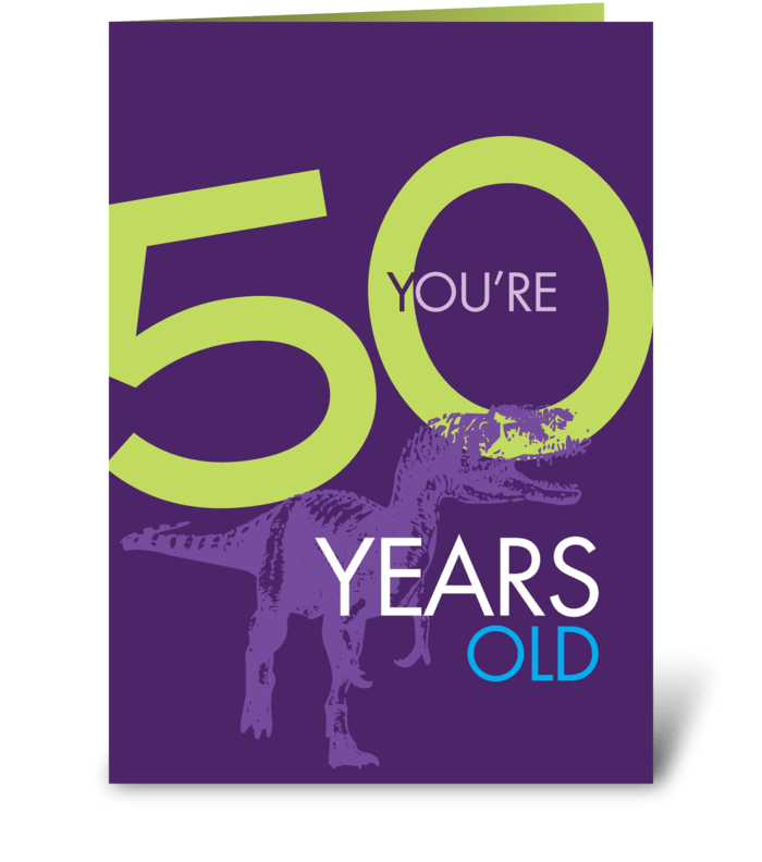 Prehistoric bday greeting card