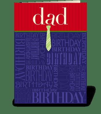 Birthday Dad greeting card