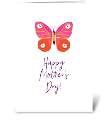 Happy Mother's Day - butterfly greeting card