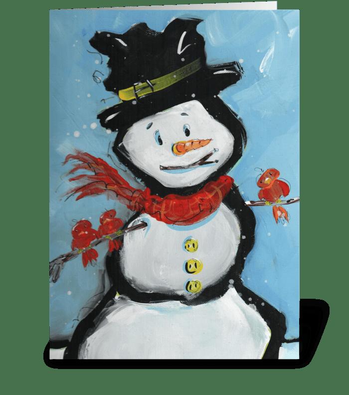 Snowman Friends greeting card