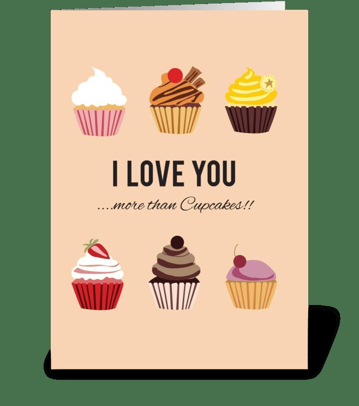 More than Cupcakes greeting card