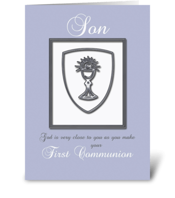 Son, First Communion Congratulations greeting card