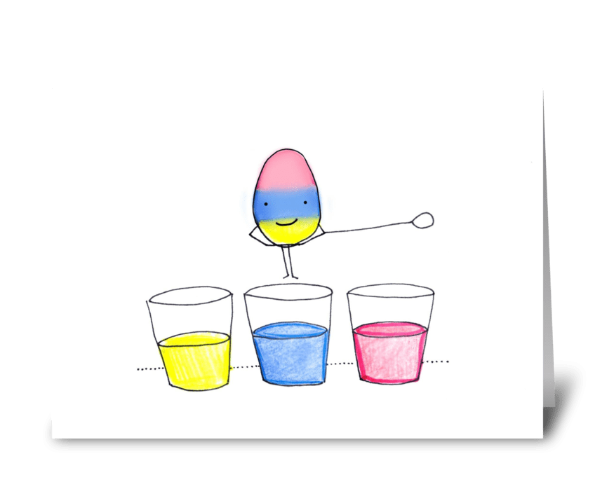 Easter Egg Dip greeting card