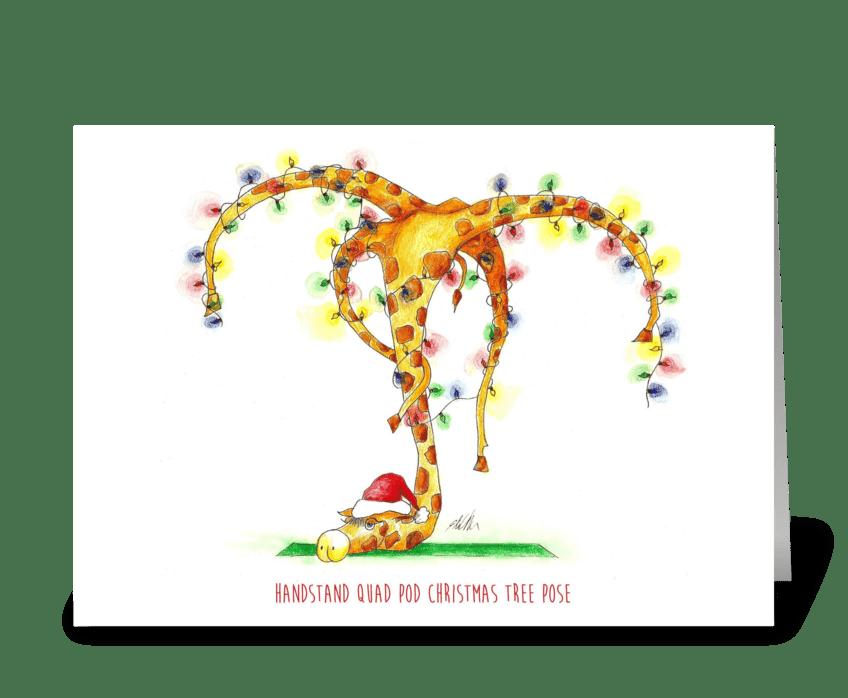 Yoga Christmas greeting card