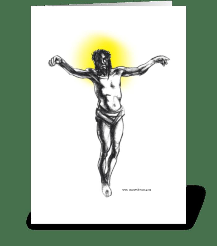 Crusifiction greeting card