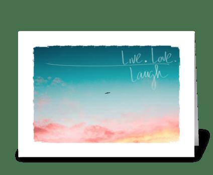 live love life greeting card