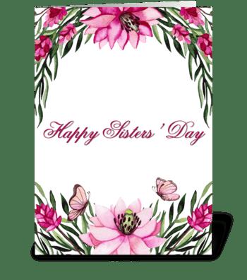 Flower garden for Sister greeting card