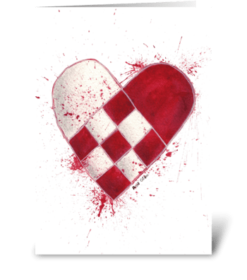 The heart greeting card
