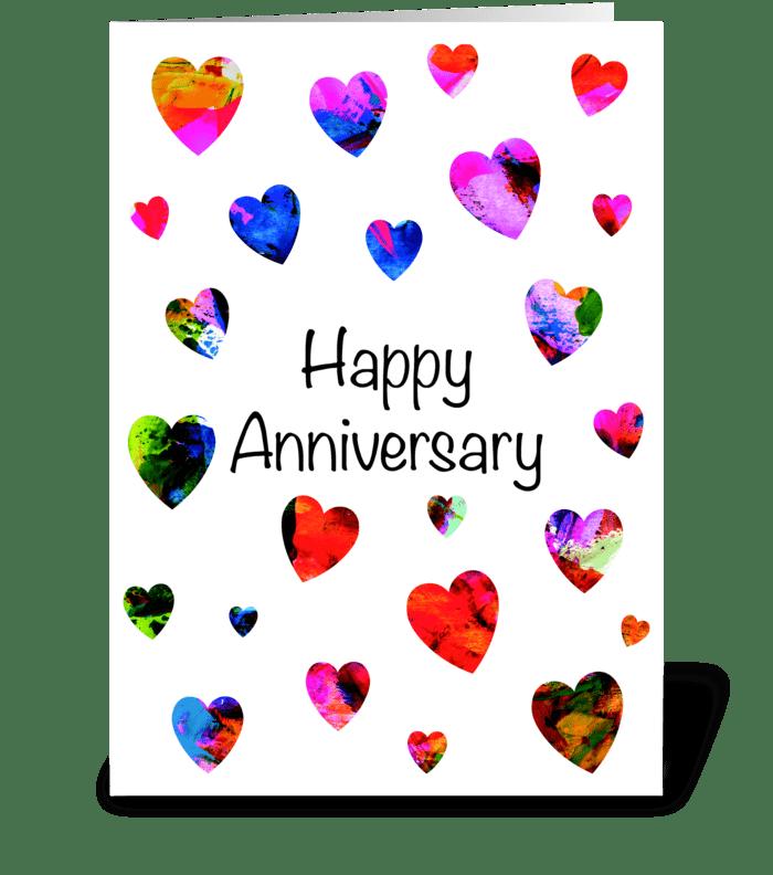 12 Modern eye-catching Anniversary card greeting card