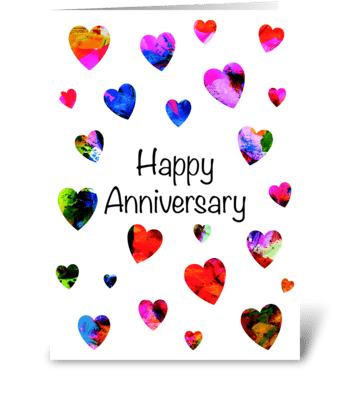 Modern eye-catching Anniversary card greeting card