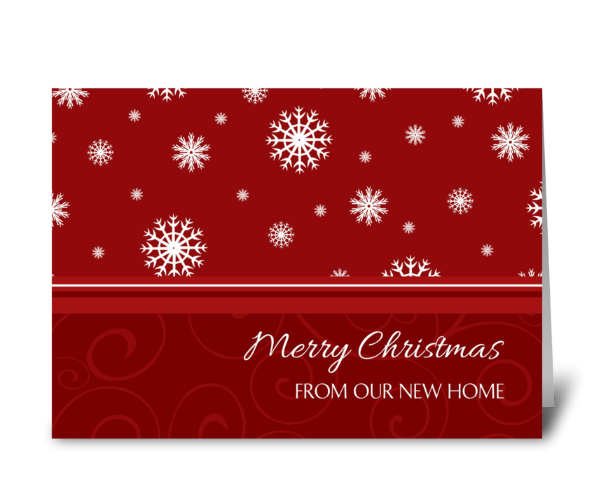 Merry Christmas from our New Home greeting card