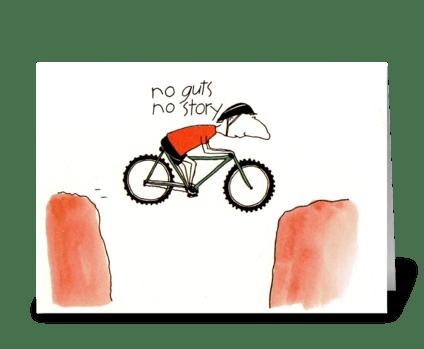 no guts  greeting card