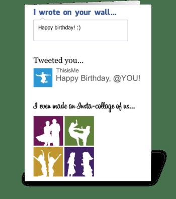 Social Media Card greeting card