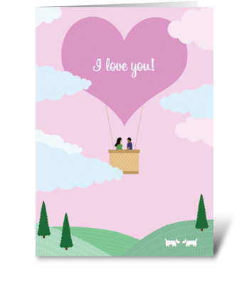 Love Balloon greeting card