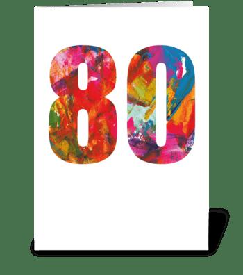 80th Birthday card greeting card