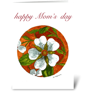 Floral Circle greeting card