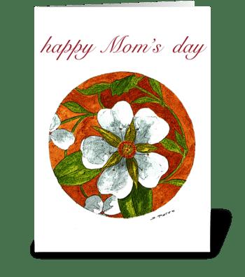 Floral Circle greeting card