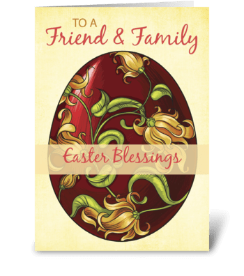 Friend & Family, Easter Blessings, Egg greeting card