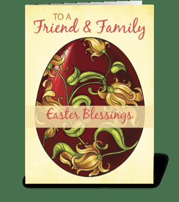Friend & Family, Easter Blessings, Egg greeting card