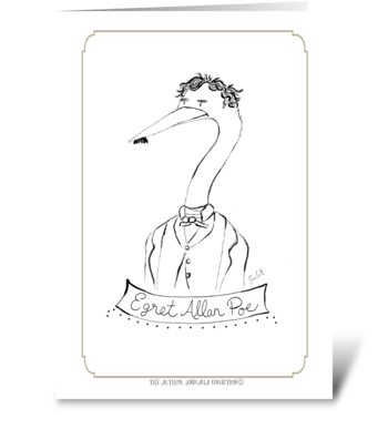 The Author Animalia Collection: Egret greeting card