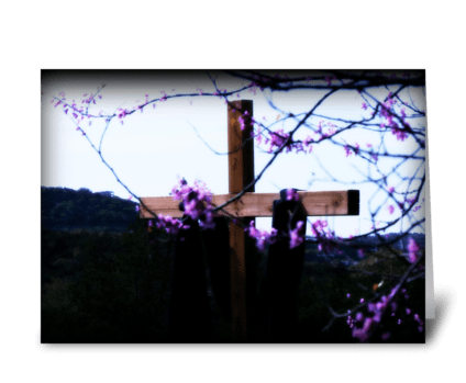 The cross says it all. greeting card