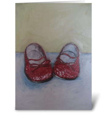 sparkle shoes greeting card