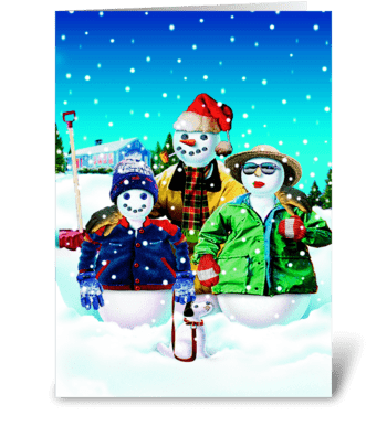 The Winters Family greeting card