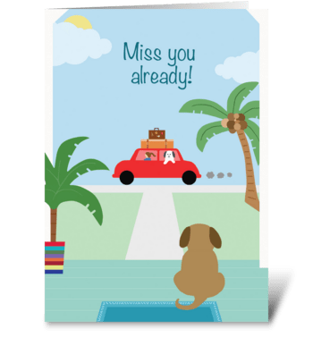 Dog Farewell greeting card