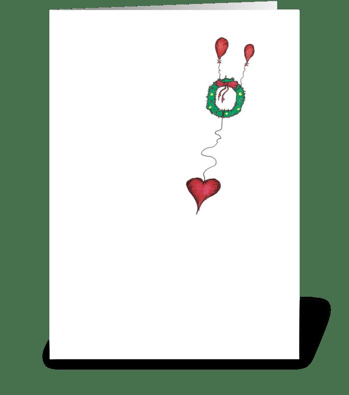 Christmas Wreath greeting card